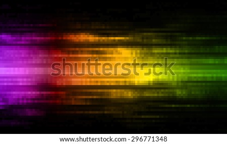 dark purple orange green illustration of technology internet network computer background with binary number, style background. infographics. Information. ray. pixel. - stock photo