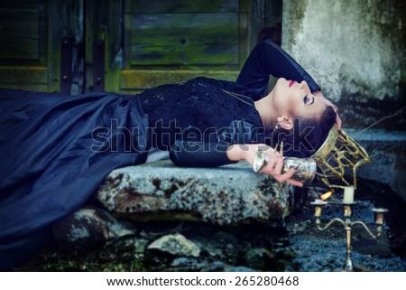 Dark queen - stock photo