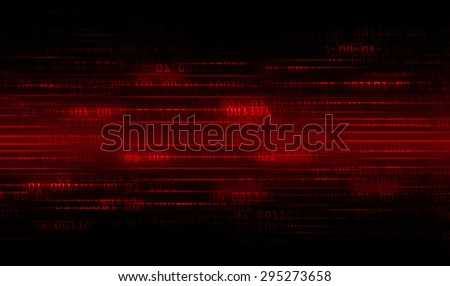 dark red Binary matrix with motion effect. technology graphic computer cyber. infographics. one. zero. glow.  - stock photo