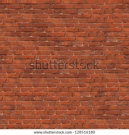 Dark Red Brick Wall Texture. Grunge Seamless Tileable Texture. - stock photo