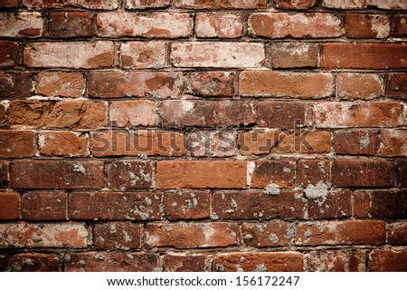 Dark Red Brick Wall Texture. Grunge Texture.