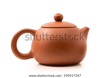 dark-red enameled pottery, teapot