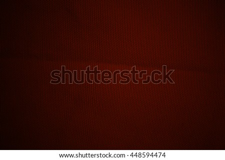 Dark red fabric texture background, linen - stock photo