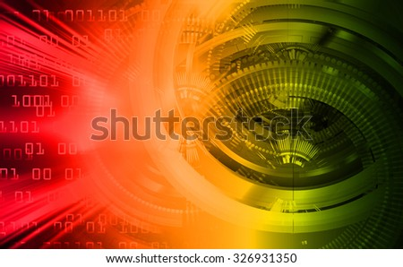 dark red orange green Light Abstract Technology background for computer graphic website internet and business.circuit. illustration. abstract digital. infographics. motion move blur.neon. Binary digit - stock photo