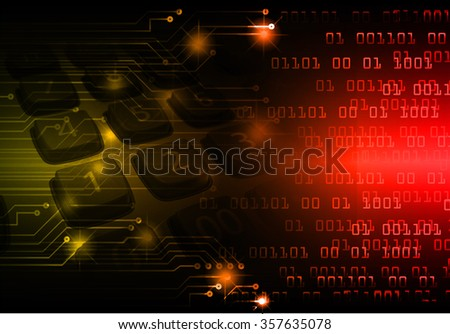 dark red yellow Light Abstract Technology background for computer graphic website internet and business. circuit. illustration. digital. infographics. binary code. www.one. zero. Spark scan virus - stock photo