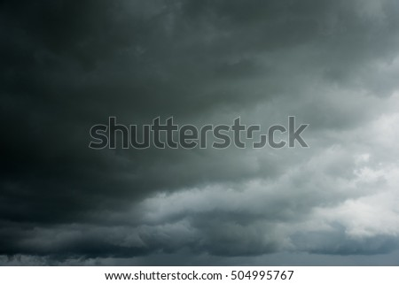Dark sky and dramatic clouds