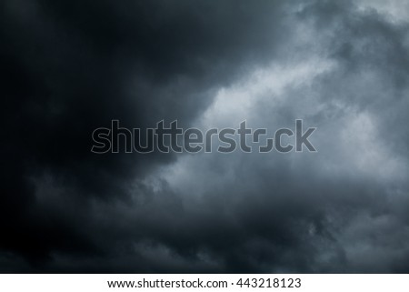 Dark sky before rain