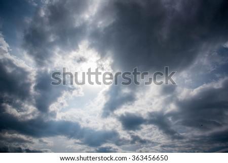 Dark Sky before raining - stock photo