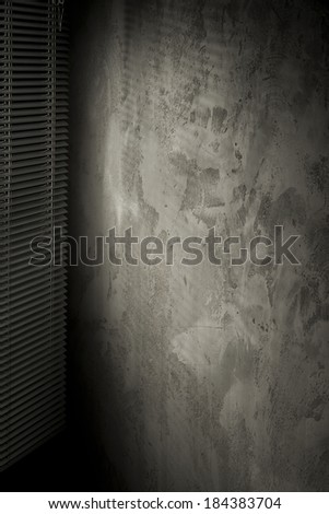 dark space in room with blinds  - stock photo
