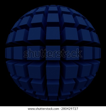 dark sphere with square faces