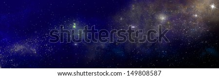 dark starry sky with nebula