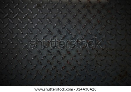 dark steel texture. Industrial shiny metal silver list with rhombus shapes. - stock photo