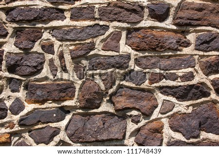 Dark stone wall detail with irregular pattern. Background