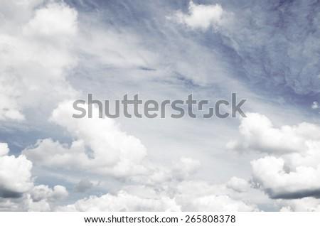 Dark storm clouds before rain - stock photo