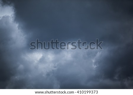 Dark storm clouds before rain