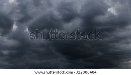 Dark storm clouds before raining, Abstract natural background.