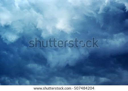 dark storm clouds. overcast sky