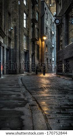 Dark Street - stock photo