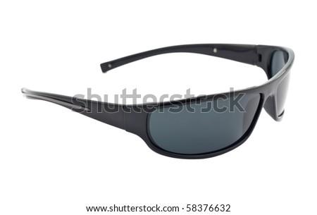 dark sunglasses isolated on white background - stock photo
