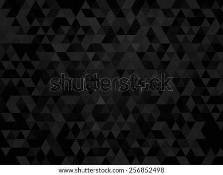dark triangles mosaic background - stock photo