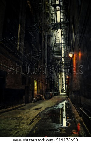 Dark Urban Alley