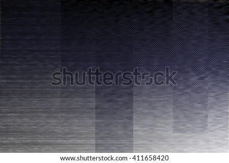 Dark VHS Glitch Texture - stock photo