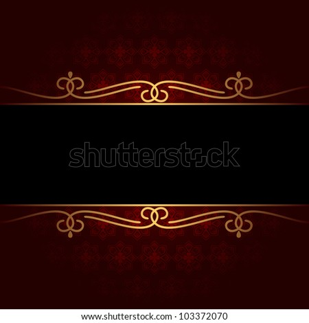 Dark vintage background. The background consists of red and black color.