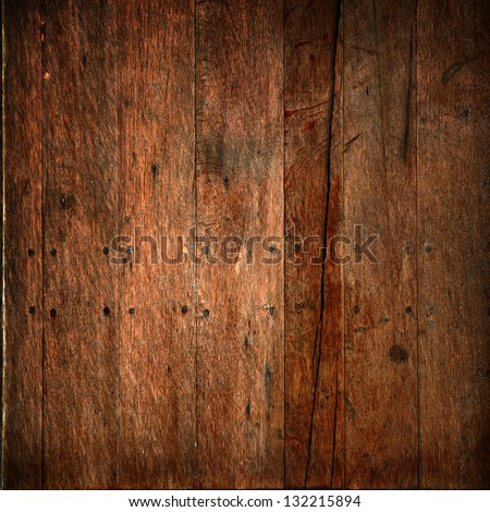 Dark vintage wood texture for background - stock photo