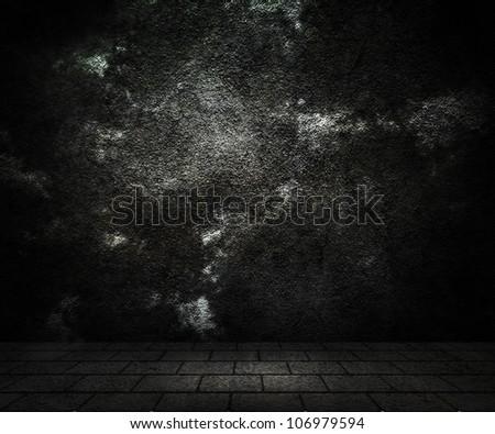 Dark Wall - stock photo