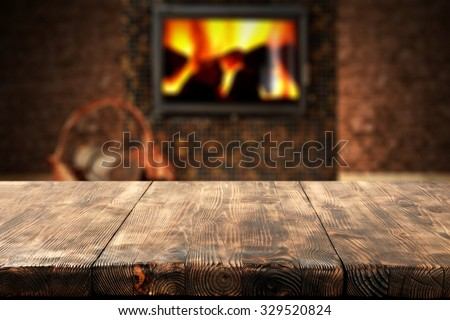 dark wall with black fireplace with interior of home  - stock photo