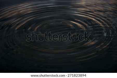 dark water wave and reflection. soft focus and blur - stock photo