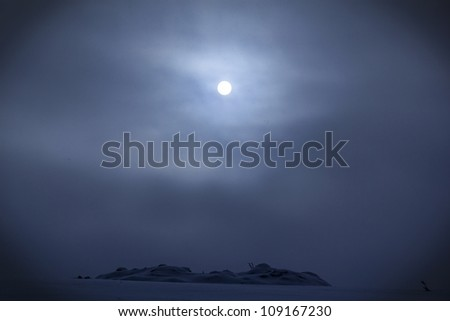 dark winter noon - stock photo