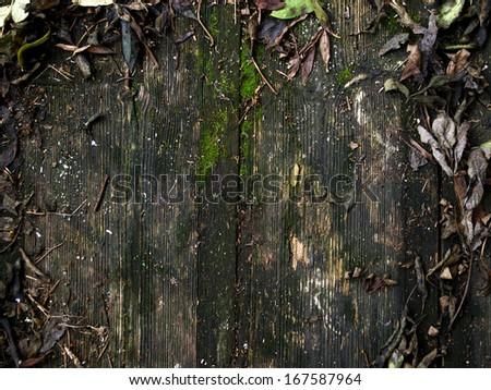 Dark wood board, as background - stock photo