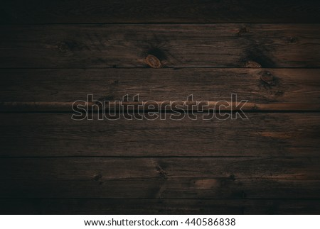 dark wood board use for background - stock photo