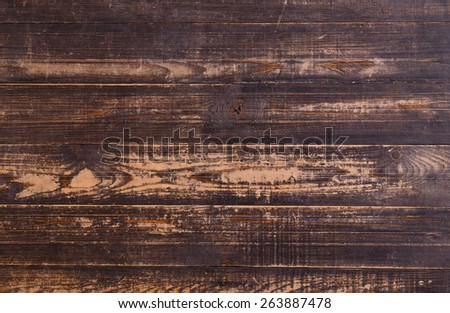 Dark wood for texture and background - stock photo