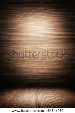 dark wooden interior. - stock photo