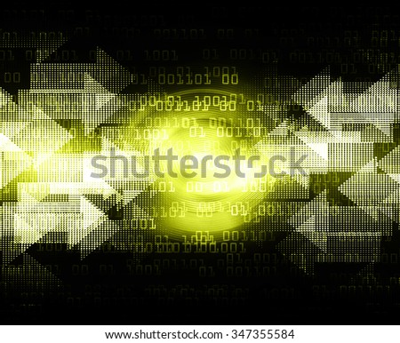 dark yellow color Light Abstract Technology background for computer graphic website internet and business. circuit. illustration. digital. infographics. motion. code background. www. vector.Spark. - stock photo