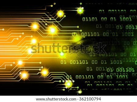 dark yellow green Light Abstract Technology background for computer graphic website internet and business. circuit. illustration.digital.infographics. binary code. zero one. - stock photo