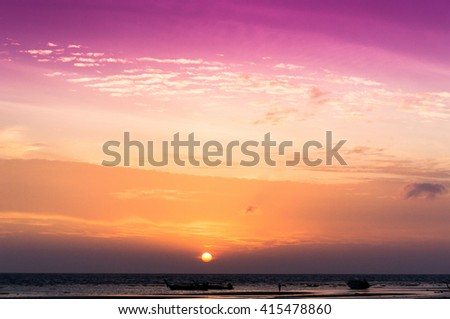 Darkening Heavens Evening Scene  - stock photo