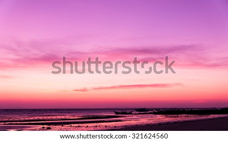 Darkening Heavens Sunset Glow  - stock photo