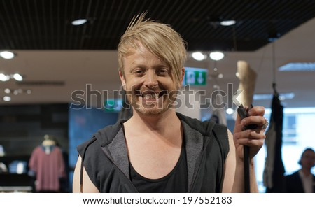 DARMSTADT, GERMANY � MAY, 2014: Television presenter, musical performer, musician and      entertainer Ross Antony at a autograph session for fans on May 24, 2014 in Darmstadt, Germany