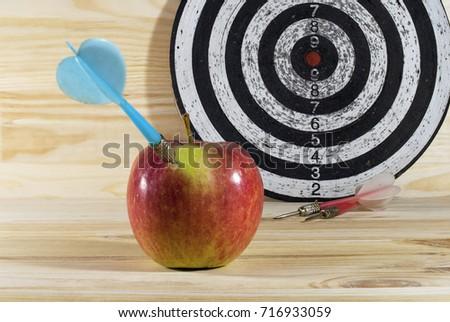 Dart Apple Dartboard Target Darts Concept Stock Photo Royalty Free