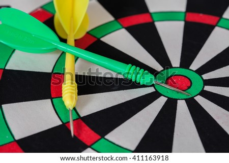 dart arrow on dartboard