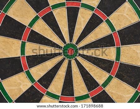 Dart board. Close up picture - stock photo