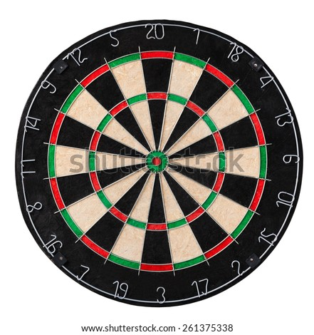 Dart board. Close up picture - stock photo