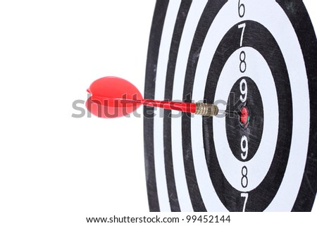 dart board isolated on white - stock photo