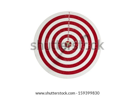 Dart board, isolated on white background