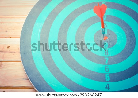 Dart is an opportunity and Dartboard is the target and goal. So both of that represent a challenge - Business concept  Bullseye and Dart.
