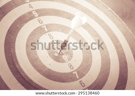 Dart is an opportunity and Dartboard is the target and goal. So both of that represent a challenge - Business concept - stock photo