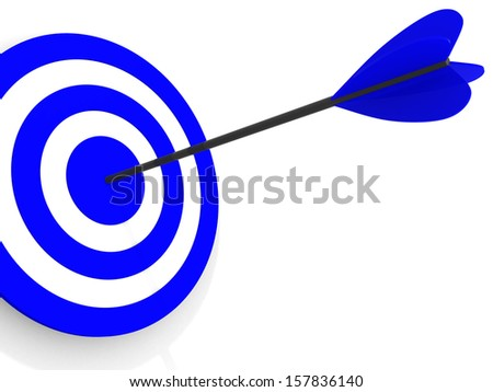 Dart on a white background. 3d illustration